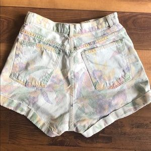 American Apparel Shorts - American Apparel Floral Print High-waisted Jeans